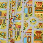 Tissu coton motif ville