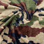 Velours Minkee militaire - brun/vert