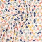Minky fluweel driehoeken - kleurrijk