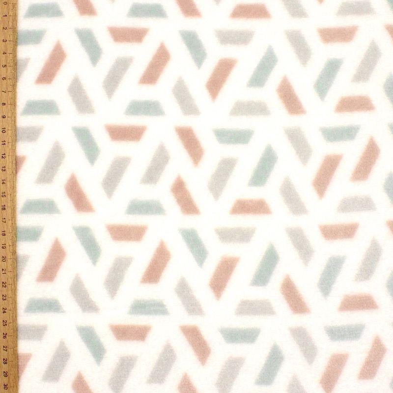 Velours Minkee géométrique multicolore