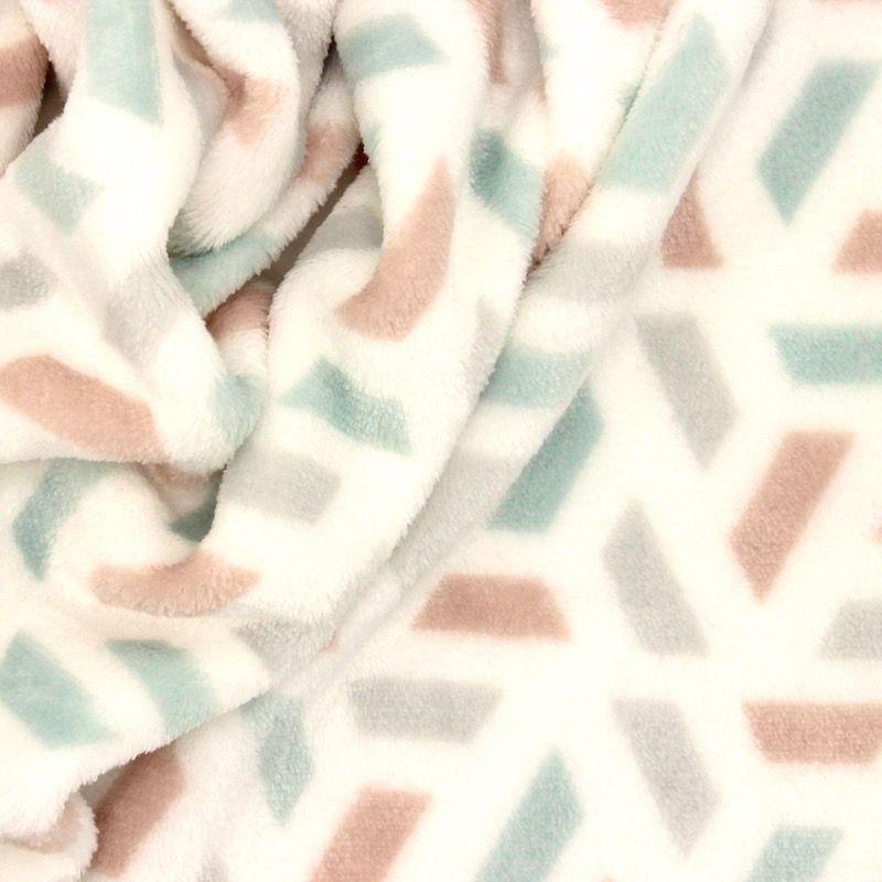 Minky fluweel geometrisch - kleurrijk