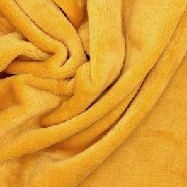 Minky velvet - plain mustard yellow