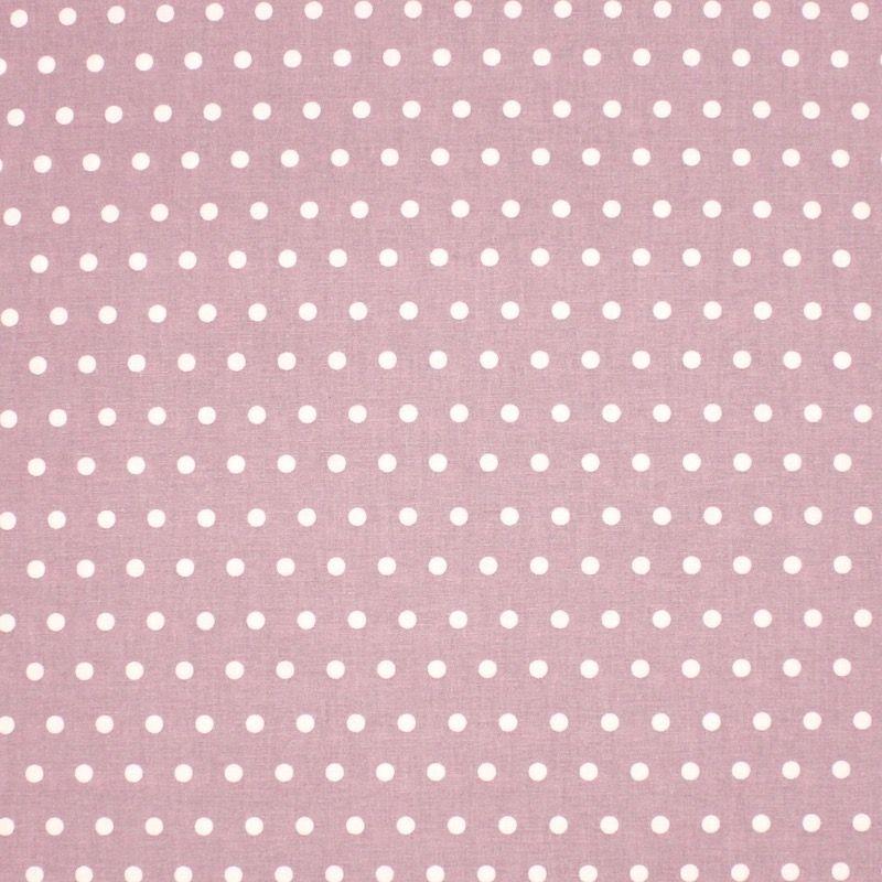 Tissu en coton enduit à pois - vieux rose
