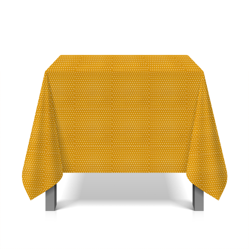 Coated cotton with dots - mostard yellow