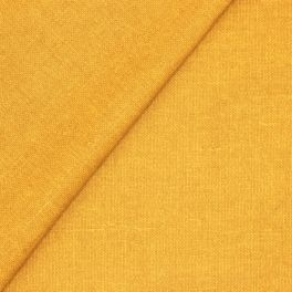 Coated cotton fabric - semi-plain mustard yellow