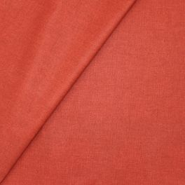 Coated cotton fabric - semi-plain terracotta