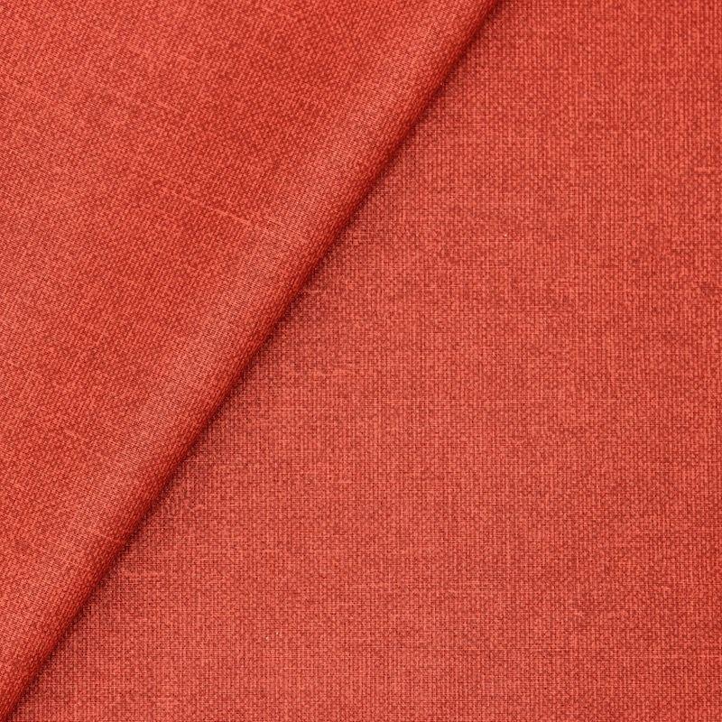 Tissu en coton enduit aux uni terra cotta