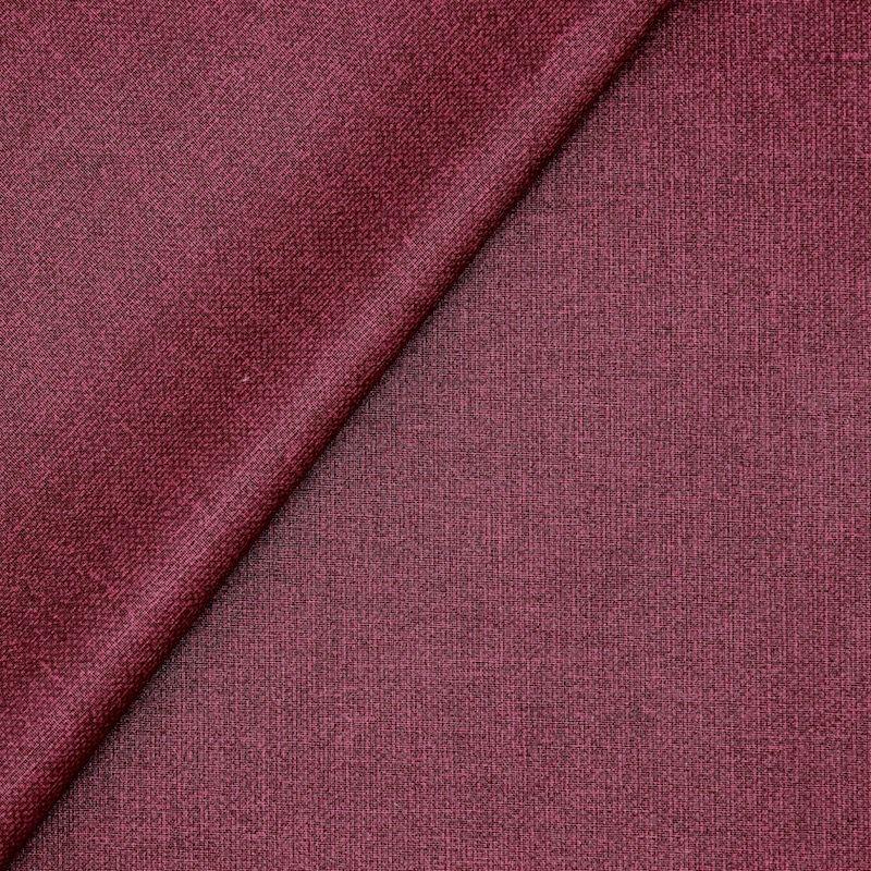 Tissu en coton enduit faux uni Cabernet