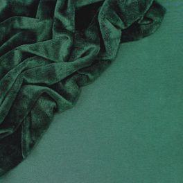 Sweat fabric with minky backside - bottle green