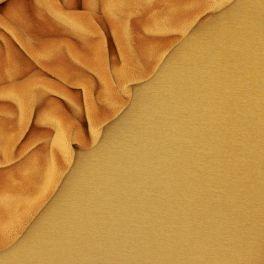 Sweat fabric with minky backside - mustard yellow