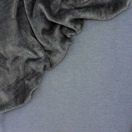 Sweat fabric with minky backside - grey