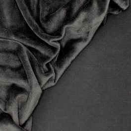 Sweat fabric with minky backside - black