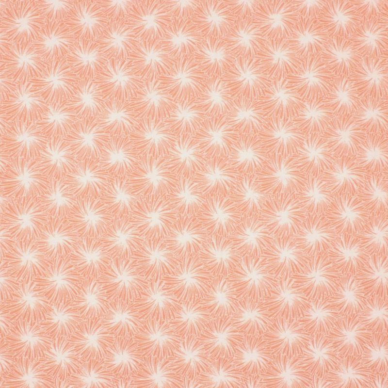 Coated cotton  with floral print - pink