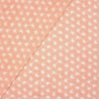 Tissu en coton enduit floral - rose