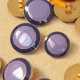 Button with metal aspect - purple and lila