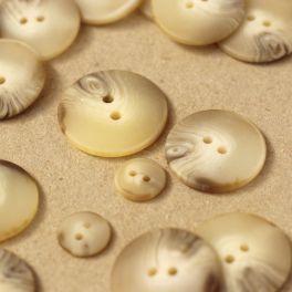 Bouton rond beige marbré