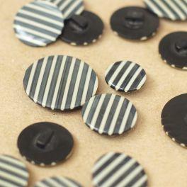 bouton à queue noir et blanc