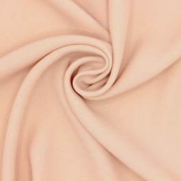 Crêpe fabric with satin backside - salmon