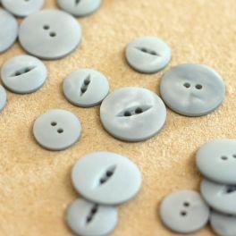 Resin button - grey