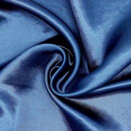 Tissu satin bleu marine