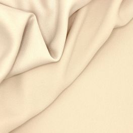Crêpe fabric with satin backside - beige