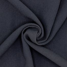 Extensible embossed fabric - navy blue