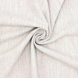 Twill aspect laine extensible gris
