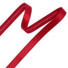 Elastiek met coating 12mm - Hermes rood