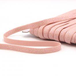 Lurex elastiek 10mm - roos