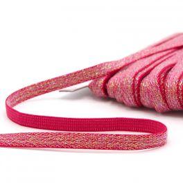 Lurex elastiek 10mm - fuchsia