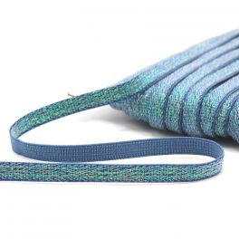 Lurex elastic 10mm - old bleu