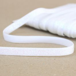 Lurex elastic 10mm - white