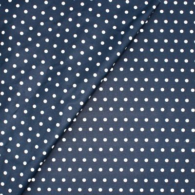 Coated cotton with dots - navy blue