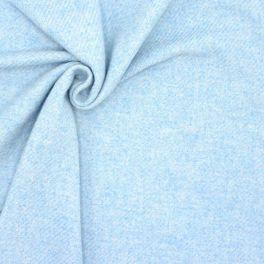 Wol met effect van dikke twill - hemelsblauw