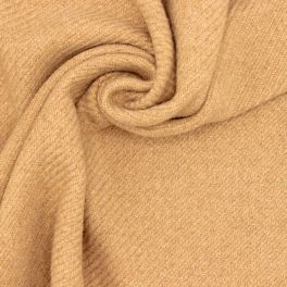 Wool fabric with thick twill effect - beige
