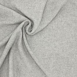 Wool fabric with thick twill effect - grey