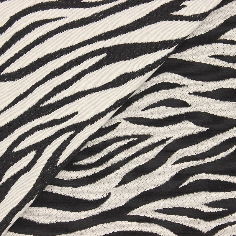 Double-sided jacquard fabric with zebra pattern