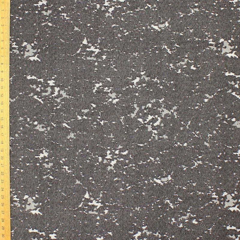 Tissu jacquard effet marbre - gris