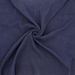 Double cotton gauze - midnight blue