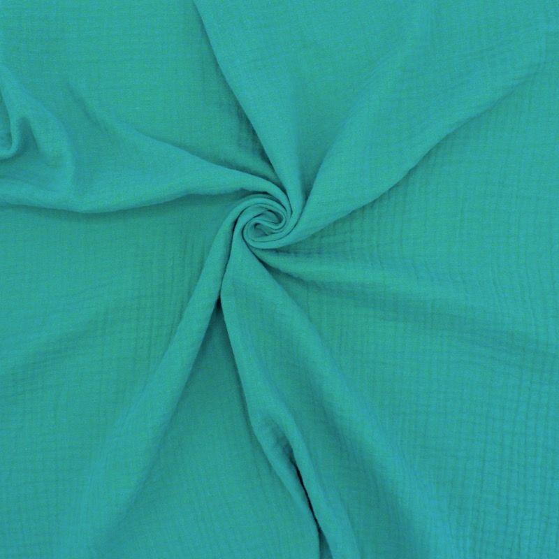 Double cotton gauze - emerald