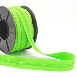 Zipper by meter - apple green