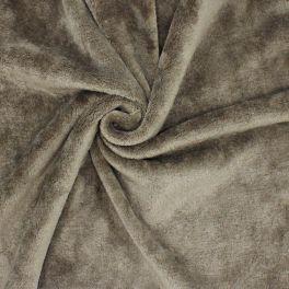 Minky velvet - plain taupe