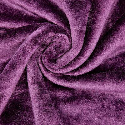 Minky velvet - plain purple
