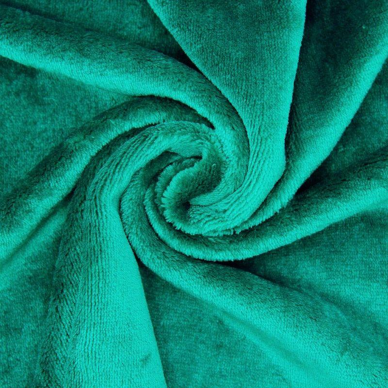 Minky velvet - plain emerald