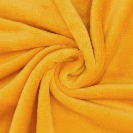 Velours Minkee moutarde uni