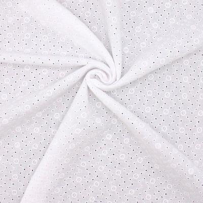 Emboidered double gauze - white