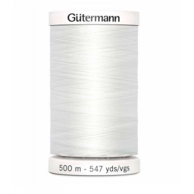 Fil à coudre blanc 500m Gütermann 800