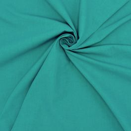 Tissu cretonne uni tourmaline bleu vert
