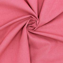 Tissu cretonne uni framboise