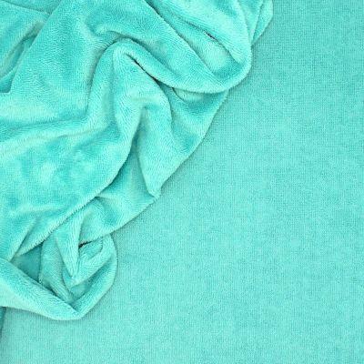 Tissu éponge bambou bleu lagon
